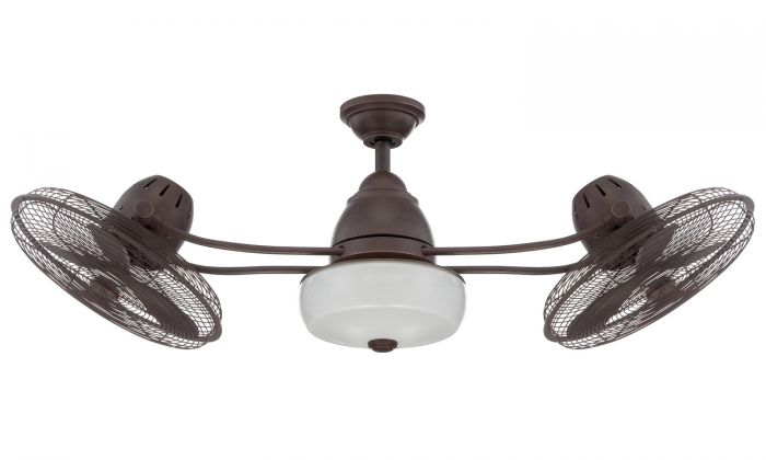 "Bellows II 48"" Ceiling Fan with Blades and Light Kit"