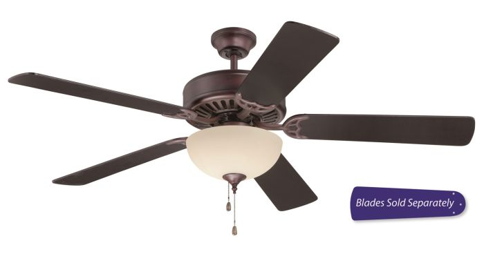 """Pro 202 52"""" Ceiling Fan with Light (Blades Sold Separately)"""