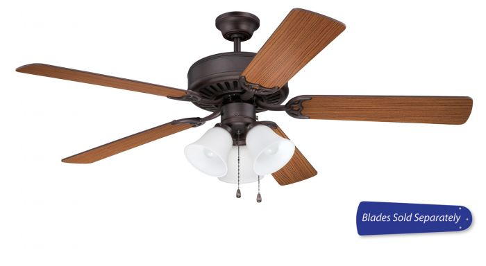 """Pro 205 52"""" Ceiling Fan with Light (Blades Sold Separately)"""