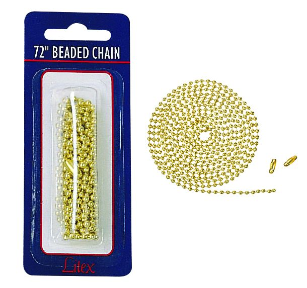 "72"" Beaded Chain 72"" Beaded Chain and 2 connectors - AB"