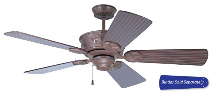 CP52AG Customizable Fan - Select Blades (Sold Separately) Aged Bronze Textured