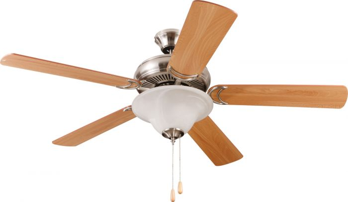 "Decorator's Choice 52"" Ceiling Fan with Blades and Light Kit"
