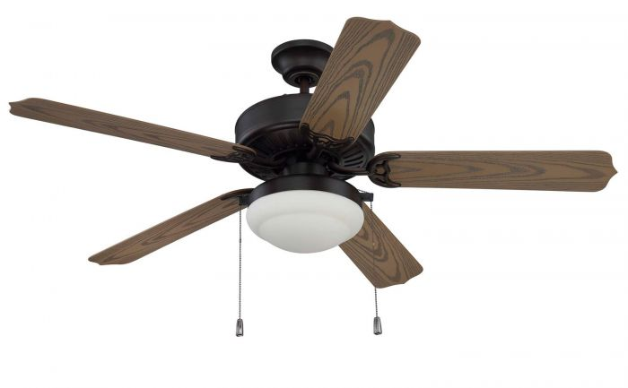 """Enduro Plastic with Light Kit 52"""" Ceiling Fan with Blades and Light Kit"""