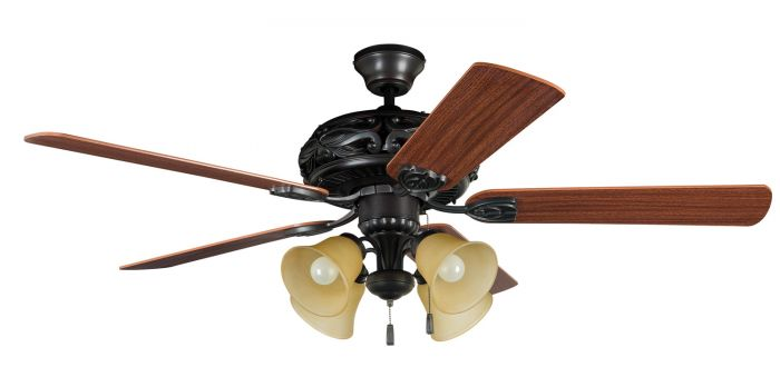 """Grandeur 52"""" Ceiling Fan with Blades and Light Kit"""