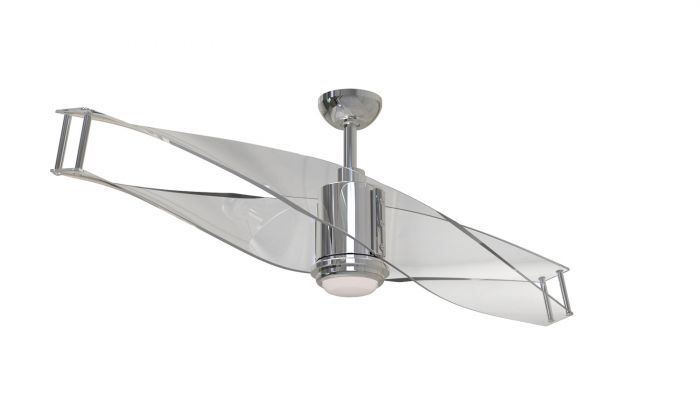 ILU56PLN2 Ceiling Fan (Blades Included) Polished Nickel