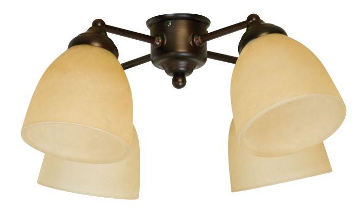 4 Light Fitter and Glass - LK400
