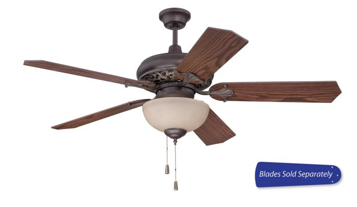 """Mia 52"""" Ceiling Fan with Light (Blades Sold Separately)"""