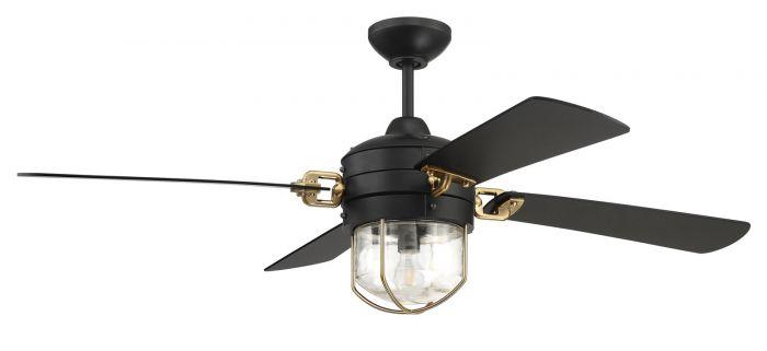 NOL52FBSB4 Ceiling Fan (Blades Included) Flat Black-Satin Brass