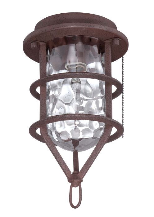 Outdoor Bowl Light Kit 1 Light Outdoor Cage Fan Light Kit