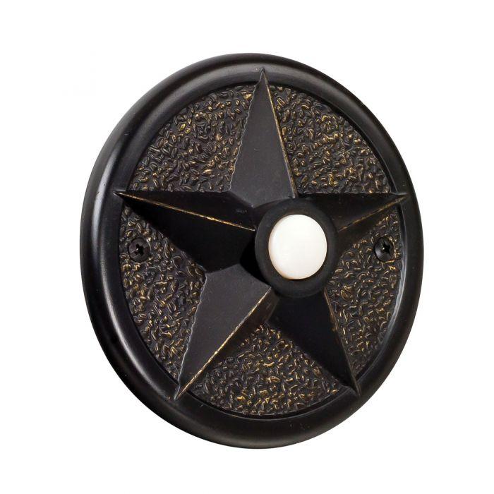 PB3036-AZ Lighted Push Button Antique Bronze