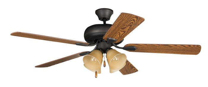 "Piedmont 52"" Ceiling Fan with Blades and Light Kit"