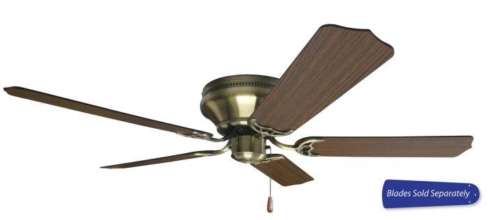 """Pro Contemporary Flushmount 52"""" Ceiling Fan (Blades Sold Separately)"""