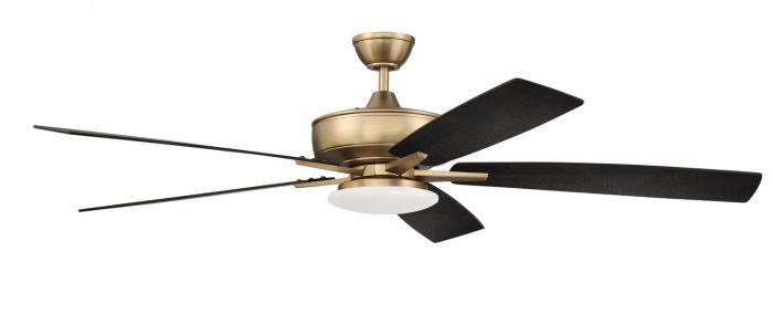 S112SB5-60BWNFB Ceiling Fan (Blades Included) Satin Brass