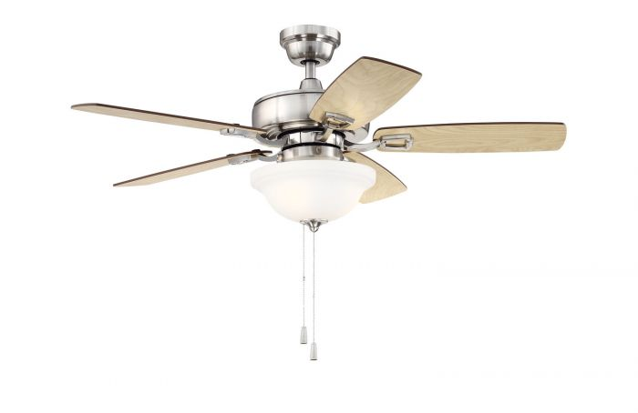 "Twist N Click 1 Light 52"" Ceiling Fan with Blades and Light Kit"