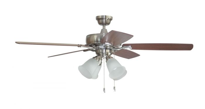 "Twist N Click 4 Light 52"" Ceiling Fan with Blades and Light Kit"