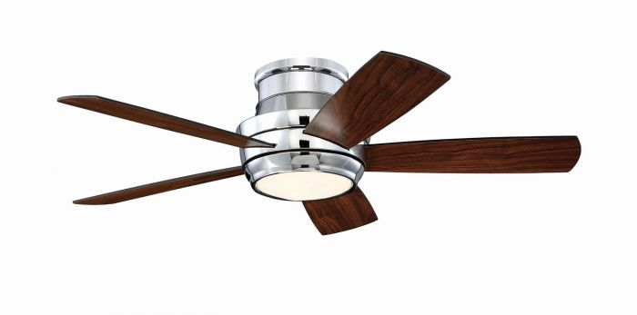 "Tempo Hugger 44"" 44"" Ceiling Fan with Blades and Light Kit"