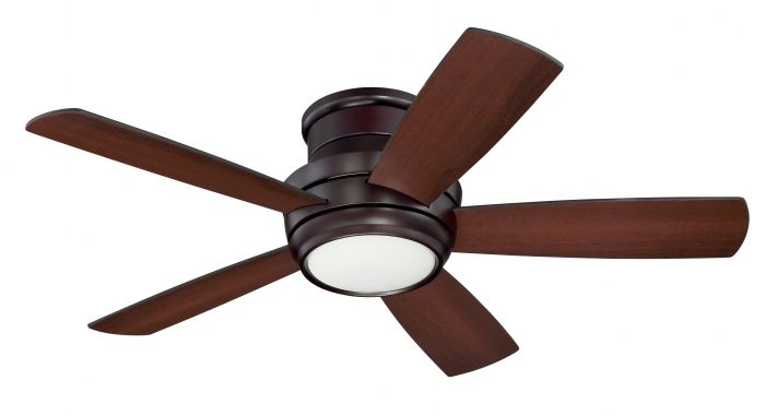 """Tempo Hugger 44"""" 44"""" Ceiling Fan with Blades and Light Kit"""