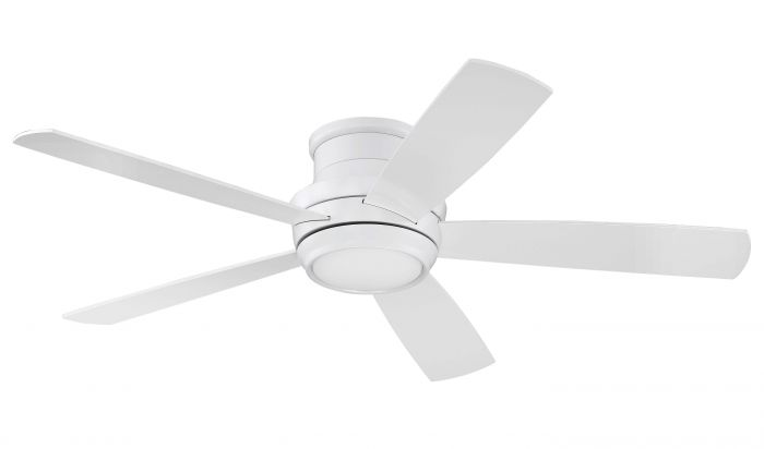 """Tempo Hugger 52"""" 52"""" Ceiling Fan with Blades and Light Kit"""