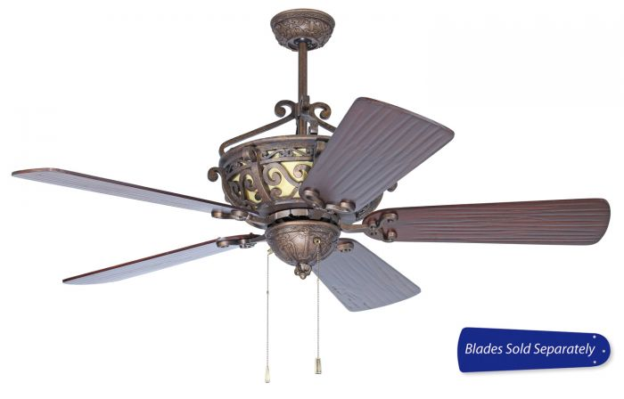 TO52PR Customizable Fan - Select Blades (Sold Separately) Peruvian Bronze