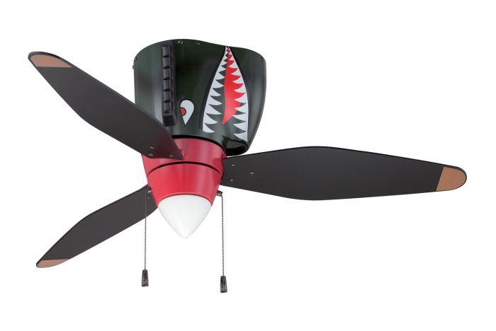 WB348TS3 Ceiling Fan (Blades Included) WarPlanes Tiger Shark