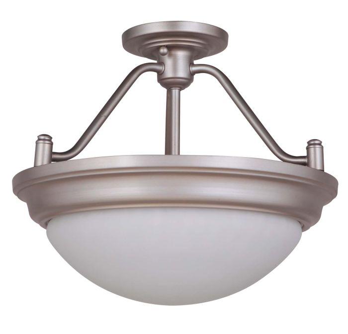 Pro Builder Premium Flush 2 Light Convertible Semi Flush