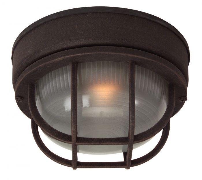 Bulkheads Oval and Round 1 Light Small Flushmount