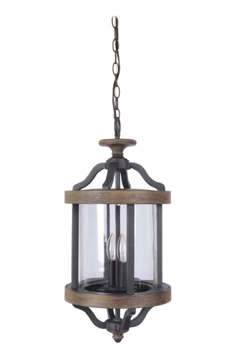 Z7921-TBWB Pendant Textured Black-Whiskey Barrel