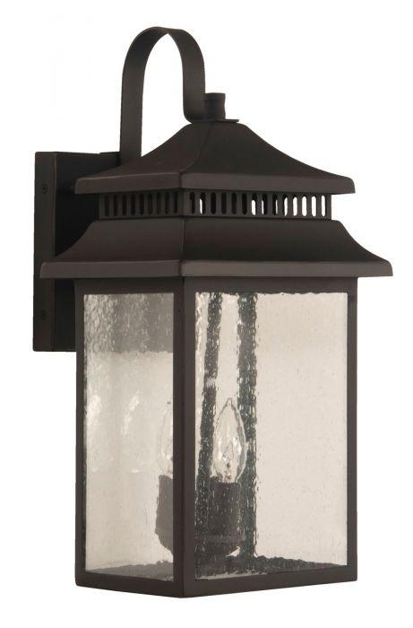 Crossbend Large 2 Light Outdoor Lantern
