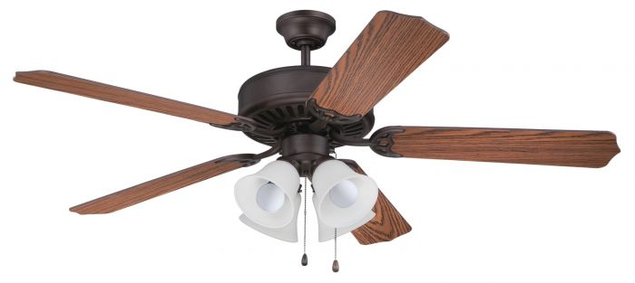 """Pro 203 52"""" Ceiling Fan with Light (Blades Sold Separately)"""
