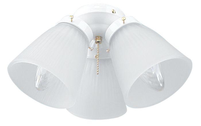 3 Light Fitter and Glass 3 Light Fan Light Kit