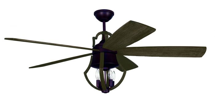 WIN56ABZWP5 Ceiling Fan (Blades Included) Aged Bronze Brushed